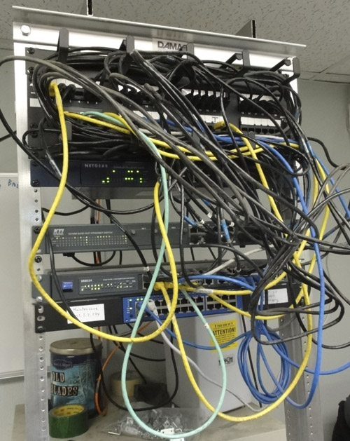[SCHEMATICS_4UK]  Network Architechs - Photos: Wiring Closet BEFORE & AFTER | Relay Rack Wiring |  | Network Architechs